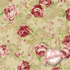 Kilala Antique Roses QKY201205-12B by QH Textiles: Kilala Antique Roses is a floral collection by QH Textiles. 100% cotton. This fabric features tossed roses and faint tonal roses on a grey background.