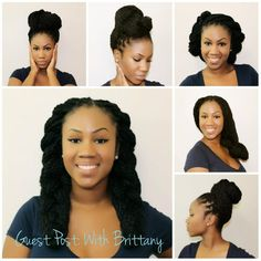 Not with box braids, but love the styles | Tumblr Pin It