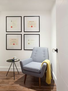 Diploma Display and Occasional Chair. 'One Three Design and Strickland Mateljan Design + Architecture' photo cred: Leslie Goodwin Photography