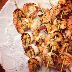 Cilantro & Lime Shrimp Skewers