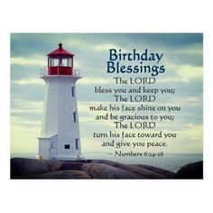 Shop Birthday Blessings Numbers Lighthouse Postcard created by CChristianDesigns. Happy Birthday Christian Quotes, Christian Happy Birthday Wishes, Blessed Birthday Wishes, Spiritual Birthday Wishes, Birthday Wishes For Kids, Happy Birthday Wishes Cards, Happy Birthday Quotes, Happy Birthday Images, Birthday Greetings