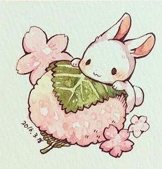This artist definitely has the CUTEST style I have ever seen in my entire life. Their portrayal of c Gifs Kawaii, Kawaii Art, Kawaii Chibi, Kawaii Anime, Cute Food Drawings, Cute Little Drawings, Cute Kawaii Animals, Cute Animal Drawings Kawaii, Cute Food Art