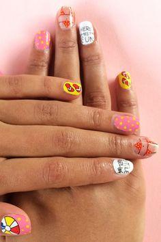 Scratch Summer Nail Wraps - Shark Week Nails