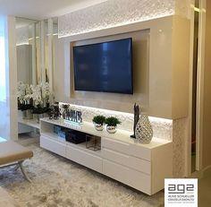 My Living Room Designs Room Interior, Home Interior Design, Modern Tv Wall Units, Living Room Tv Unit Designs, Sala Grande, Tv Wall Decor, Home Tv, Design Case, Home And Living
