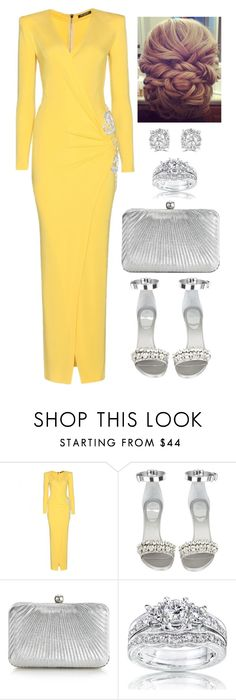 """Untitled #3786"" by natalyasidunova ❤ liked on Polyvore featuring Balmain, Givenchy, Accessorize, Kobelli and Effy Jewelry"