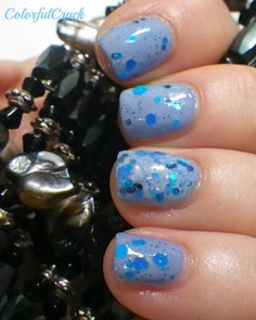 """China Glaze """"Fade Into Hue"""" and Chirality """"Bundy Berries""""  www.colorfulcrack.com"""
