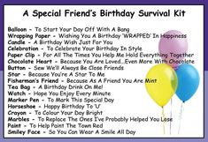 Friend's Birthday Survival Kit In A Can. Humorous Novelty Fun Gift To Say Happy Birthday - Friendship Present & Card All In One. Customise Your Can Colour (Purple/Lilac) Mum Birthday Gift, Birthday Gifts For Best Friend, Man Birthday, Friend Birthday, Best Friend Gifts, Birthday Quotes, Birthday Wishes, Birthday Cards, Best Gifts