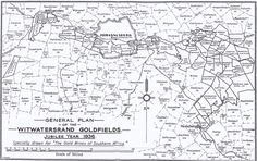 General plan of the Witwatersrand 1936 Johannesburg City, My Family History, African History, New Zealand, South Africa, How To Plan, Followers, Maps, Boards