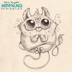Chubby Churble.  #morningscribbles | 출처: CHRIS RYNIAK