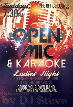 Open Mic Night Flyer Design