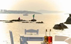 Caprice of Mykonos Greece Sea, Mykonos Greece, Mykonos Restaurant, Greek Restaurants, Windmill, Places To Visit, Sunset, Destinations, Minimal