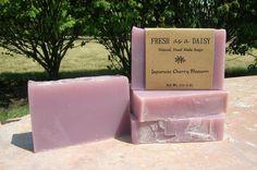 Japanese Cherry Blossom, Natural Handmade Soap. $4.00, via Etsy.