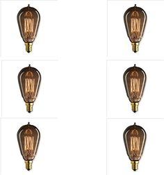 Set of 6 Vintage 40 Watt Amber Edison Style Candelabra Squirrel Cage Light Bulbs Marconi Chandelier Bulb Historic Lamps Upgradelights http://www.amazon.com/dp/B00IHHJBTY/ref=cm_sw_r_pi_dp_a.6awb1HTT5K7