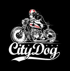 The new CityDog Boxer on a Bike tees (comes in men's and women's)