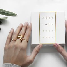 P D PAOLA Jewelry. Christmas Gold Packaging.