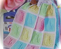 Crochet patrones gato gatito manta afgana de por carolrosa en Etsy Más