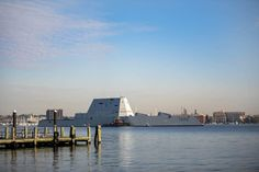 Navy's newest and most technologically advanced destroyer, USS Zumwalt, was commissioned into service in Baltimore this past weekend while in town for the city&… Uss Zumwalt, Chesapeake Bay Bridge, Fleet Week, Us Navy Ships, Air Show, Battleship, Marine Corps, Historical Sites, Great Photos