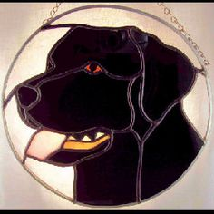 Holli Boyle Stained Glass black labrador retriever