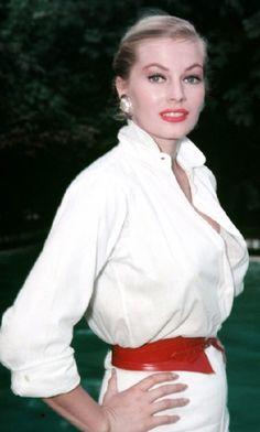 Anita Ekberg Anita Ekberg, Old Hollywood Stars, Bell Sleeve Top, Annie, Women, Women's