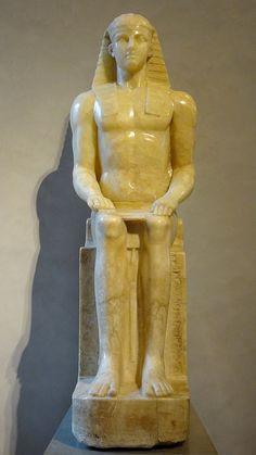 """https://flic.kr/p/Koq2Wb   """"Horus Albani"""". Siège, jambes et avant-bras : règne de Ramsès II (1279-1213 avant JC). Partie supérieure : seconde moitié du 18ème siècle. Musée du Louvre."""