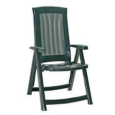 Plastic Garden Chair Folding Reclining Armchair Patio Portable Beach Seat Green  sc 1 st  Pinterest & Plastic #Garden #Chair #Folding #Reclining #Armchair #Patio ... islam-shia.org