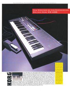 KORG DW-6000 Anzeige 2 1985
