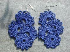 crochet earrings-tutorials