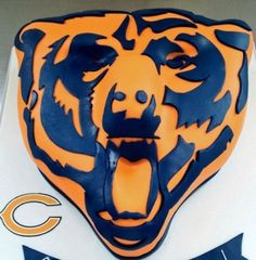 Chicago bears cake | Cake Decorating | Pinterest