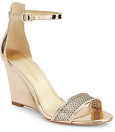 80175a63ef4 Raledy Perforated Metallic Wedge Sandal on shopstyle.com