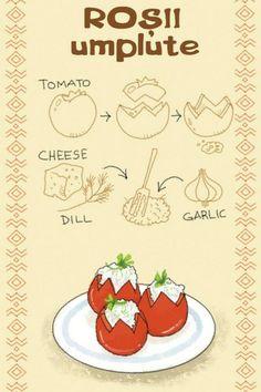 Roșii My Recipes, Cooking Recipes, Favorite Recipes, Romania Food, Comidas Fitness, Russian Recipes, Romanian Recipes, Good Food, Yummy Food
