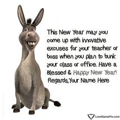 write any name and create funny new years quotes with name and send your new year