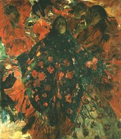 Малявин Филипп Андреевич - Бабы (Зеленая Шаль) (800х924)
