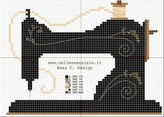 Sewing Vintage Embroidery : vintage sewing machine cross stitch pattern - A fun roundup of easy sewing projects and patterns for beginners. Lots of easy projects to try from clothing, to home decor, bags, stuff for kids and more. Cross Stitch Kits, Cross Stitch Charts, Cross Stitch Designs, Cross Stitch Patterns, Loom Patterns, Cross Stitching, Cross Stitch Embroidery, Hand Embroidery, Machine Embroidery