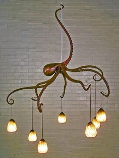 Octopus Chandelier, Creative Nautical Home Decorating Ideas,