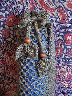 Love the crochet leaf tassels