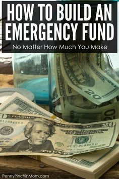 Learning how to build an emergency fund is an important part of your financial plan, budget and paying off debt via @PennyPinchinMom