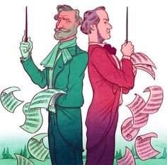 Wagner and Verdi by Koren Shadmi for NYTimes