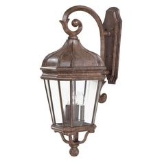 "The Great Outdoors GO 8693 4 Light 33.5"" Height Outdoor Wall Sconce from the Har Vintage Rust Outdoor Lighting Wall Sconces Outdoor Wall Sconces"