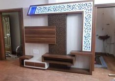 Lcd wall units family rooms that exploit the cornor space open up whatever is lot of the space for more versatile settlement, Lcd Unit Design, Lcd Panel Design, Partition Design, Tv Wall Design, Ceiling Design, Bed Design, Door Design, Wall Unit Decor, Tv Unit Furniture