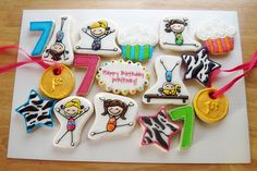 Gymnastic Themed Birthday Cookies