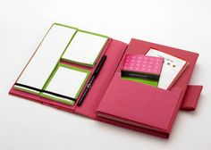 Stay organized with a travel sized planner.