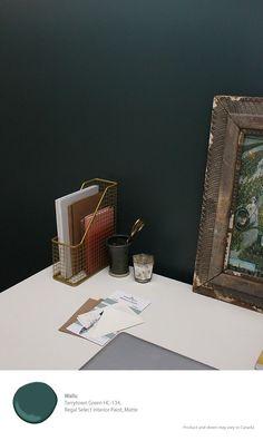 Benjamin Moore Regal Select paint in Tarrytown Green [ad] //