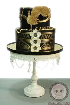 Great Gatsby theme cake - Cake by YumZee_Cuppycakes - CakesDecor
