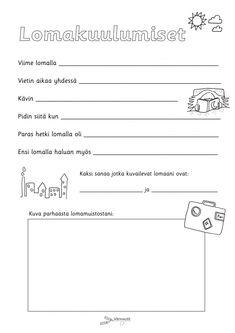 Kesä - Värinautit Find Someone Who, Special Education, Teaching Kids, Back To School, Kindergarten, Preschool, Teacher, Classroom, Feelings