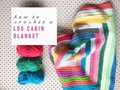 Weekend Project: How To Crochet A Free-Style Log Cabin Blanket (Meet Me at Mikes) Easy Crochet Projects, Crochet Crafts, Free Crochet, Crochet Tutorials, Crochet Motif, Crochet Shawl, Crochet Ideas, Fabric Crafts, Craft Projects