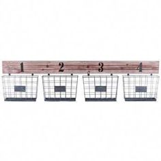 Whitewash Wooden Shelf with Baskets Hobby Lobby Wooden Wall Shelves, Wooden Walls, Metal Baskets, Baskets On Wall, Kids Storage, Wall Storage, Kitchen Storage, Hobby Electronics Store, Hobby Lobby Furniture