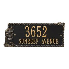 Personalized Seagull Nautical Address Plaque - Two Lines Available now at the best price only at www.everythingnautical.com  #Nautical #Home #Decor #Gifts