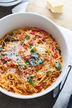 Capellini Pomodoro Angel Hair Pasta With Tomatoes
