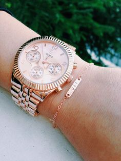 personalized Rose gold bracelet rose gold by teapartyjewelry, $20.00