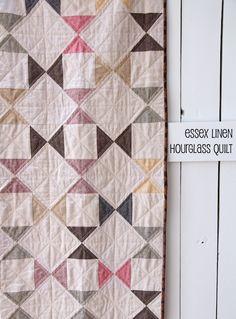 Essex Linen Hourglass Quilt | Beech Tree Lane Handmade